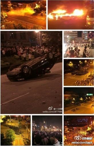Xintang riots - photos from Weibo