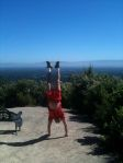 Handstand on the Montalvo estate above Silicon Valley